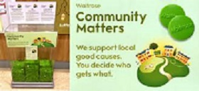 We are one of Waitrose Colchester's chosen charities for December